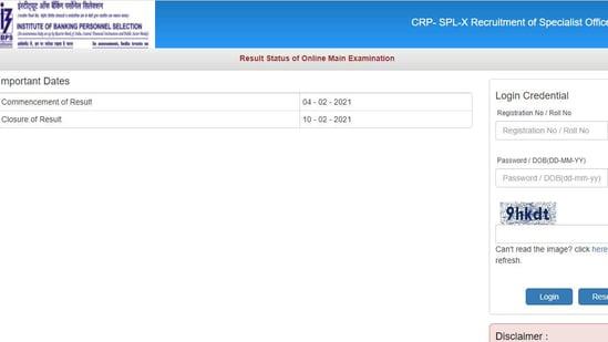 IBPS SO main results 2020.(Screengrab )