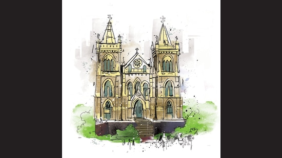 The Mount Mary church in Bandra grew out of a simple mud oratory built by the Portuguese. (HT Illustration: Gajanan Nirphale)