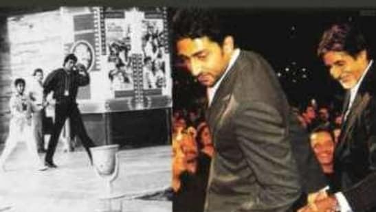 Amitabh Bachchan posted a collage on son Abhishek's birthday on Friday.