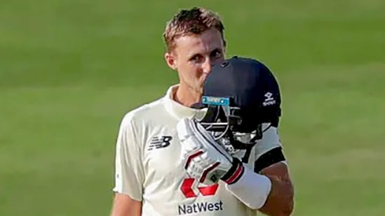 **EDS: SCREENSHOT FROM BCCI VIDEO** Chennai: England's Joe Root after scoring a century during Day 1 of the first cricket test match between India and England, at MA Chidambaram Stadium in Chennai, Friday, Feb. 5, 2021. (PTI Photo) (PTI02_05_2021_000242 B)(PTI)