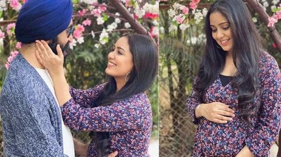 Harshdeep Kaur and husband Mankeet Singh will welcome their first child in March.