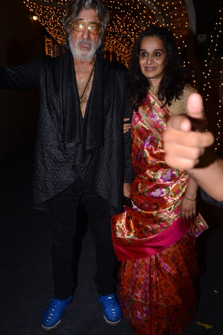 Shakti Kapoor with wife Shivangi.