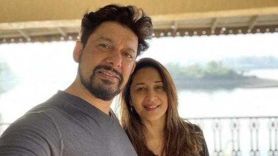 Madhuri Dixit gets a romantic dedication from husband Shriram Nene: 'Loving life with my sweetheart' - Hindustan Times