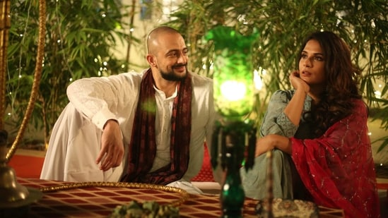 Arunoday Singh and Richa Chadha in a still from the film