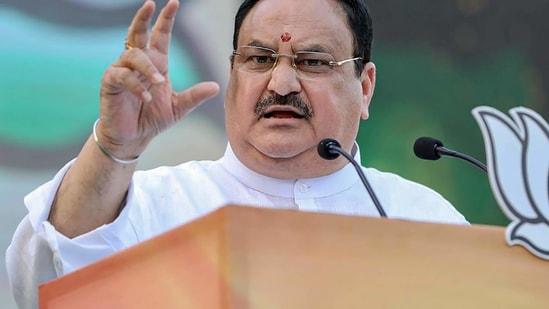BJP national president JP Nadda.(PTI)