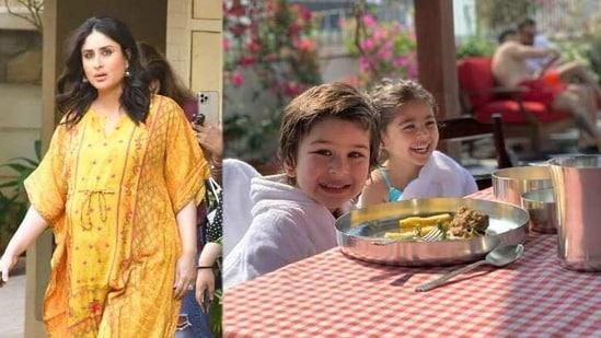 Kareena Kapoor has shared a new picture of cousins Taimur and Inaaya.