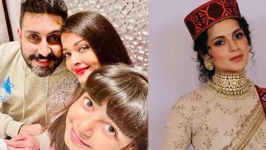 Aishwarya Rai shares selfie with Abhishek-Aaradhya, Kangana Ranaut asks former DGP to 'bow down' to her - Hindustan Times