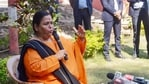 Uma Bharti was the minister of water resources, river development and Ganga rejuvenation during the first term of the Modi government.(PTI)