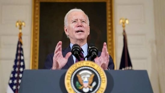 FILE PHOTO: U.S. President Joe Biden delivers remarks in the State Dining Room at the White House in Washington, U.S., February 5, 2021. REUTERS/Kevin Lamarque/File Photo(REUTERS)