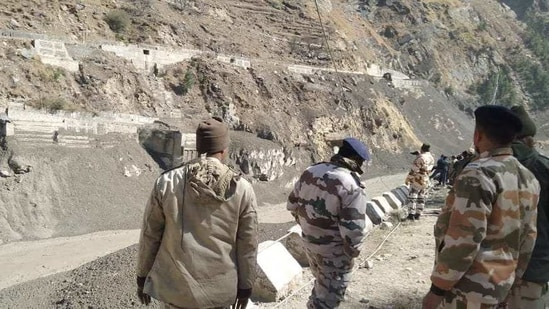 ITBP officials survey Tapovan and Reni, these areas were affected by the flash flood.