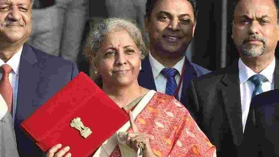 Union minister of finance Nirmala Sitharaman, New Delhi, February 1, 2021 (Ajay Aggarwal /HT PHOTO)