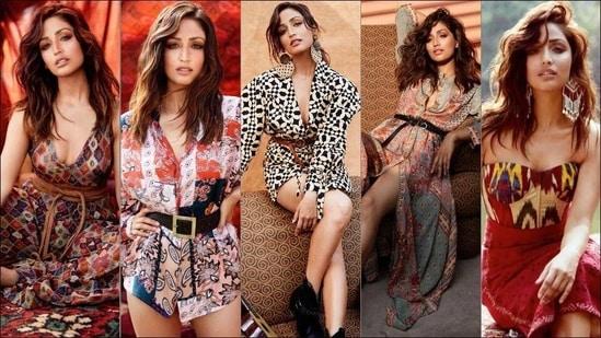 Yami Gautam gives her own sultry twists to Boho jumpsuit, shirt-blazer dresses(Instagram/zunailimalik/salechav)