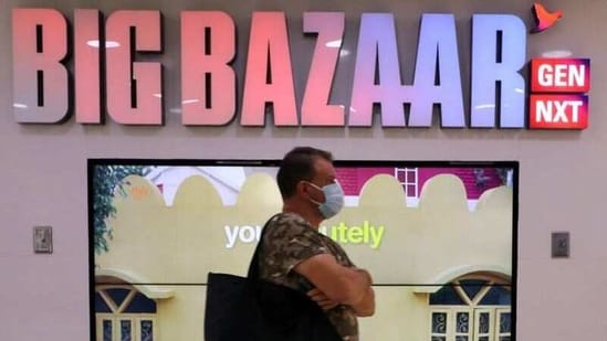 A man walks inside the Big Bazaar retail store in Mumbai, India. (Reuters)