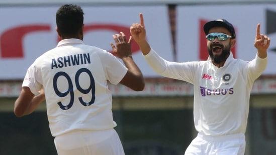 R Ashwin celebrates with Virat Kohli. (BCCI)