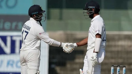Rishabh Pant (L) and Cheteshwar Pujara raised a century stand for India's fifth wicket. (BCCI)