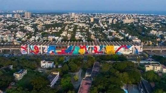 Indias largest panoramic mural created at Indira Nagar Railway Station, Chennai - Hindustan Times