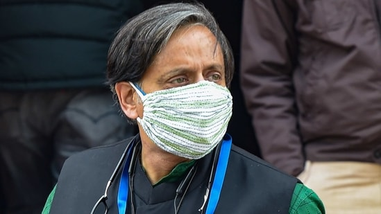 Congress leader Shashi Tharoor is seen at Parliament House in New Delhi in this file photo. (PTI)