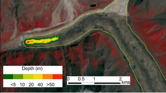 Nanda Devi glacier and the extent of depression in the ablation zone. (Sourced)
