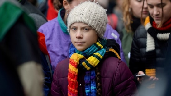 Swedish climate activist Greta Thunberg takes part in the rally ''Europe Climate Strike'' in Brussels, Belgium, March 6, 2020. (Representative image) (REUTERS)