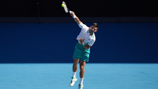 Djokovic fends off Tiafoe in four sets(Twitter)