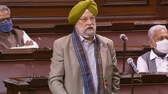 Hardeep Singh Puri explains that his ministry will not regulate flight ticket prices when domestic services come back to their pre-covid figures. (PTI)