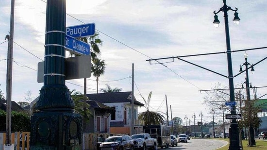 The toll of this year's toned-down Mardi Gras is evident on St. Claude Avenue, an off-the-beaten-track stretch that has become a destination in recent years.(AP)