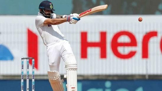 Virat Kohli plays the pull shot. (BCCI)