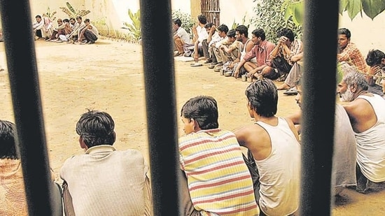 The maximum number of prisoners from the OBC, SC, and 'Others' categories were in Uttar Pradesh jails, while ST community's in Madhya Pradesh jails, according to the data.(HT File Photo)