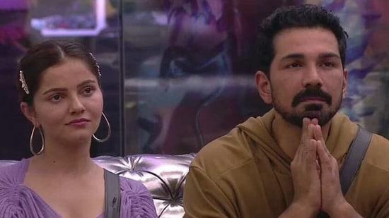 Abhinav Shukla and Rubina Dilaik on Bigg Boss 14.