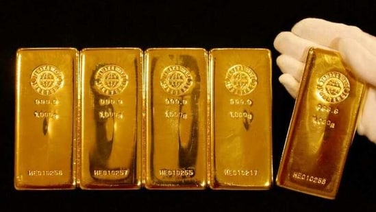 Gold bars are displayed during a photo opportunity. (Representative image)(REUTERS)