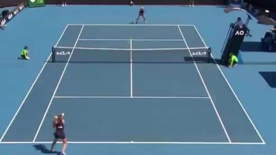 Australian Open match at Melbourne Park(Twitter)
