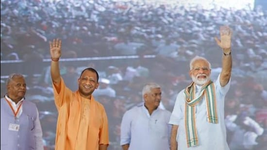 West UP farmers, while demanding a repeal of the three farm laws, have not directly attacked either Prime Minister (PM) Narendra Modi or chief minister (CM) Yogi Adityanath (PTI)