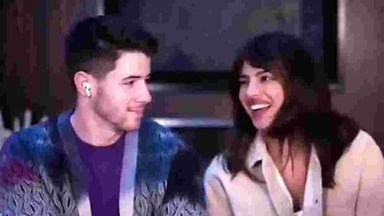 Nick Jonas and Priyanka Chopra during the 18th edition of HTLS.