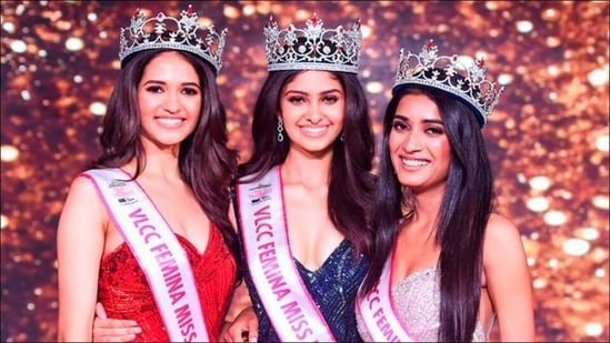 Telangana engineer, Manasa Varanasi, wins VLCC Femina Miss India World 2020(Twitter/Rahul_thakur8)