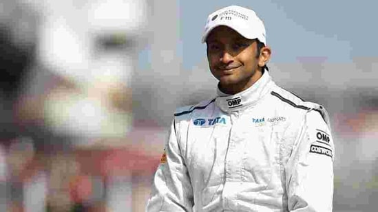 Racing driver Narain Karthikeyan of India is seen at the unveil of the new F111 Hispania Racing car in Spain.(Getty Images)