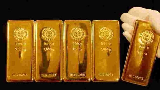 In the previous session, gold prices for April had slipped by <span class='webrupee'>₹</span>59 or 0.12 per cent to <span class='webrupee'>₹</span>47,954 per 10 gram.(REUTERS)