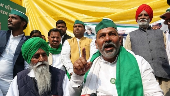Rakesh Tikait had earlier warned the farmers' agitation will not conclude unless government repeals the three newly enacted agriculture laws.(ANI Photo)