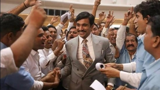 A still from Scam 1992 based on 1992 Indian stock market scam committed by stockbroker Harshad Mehta