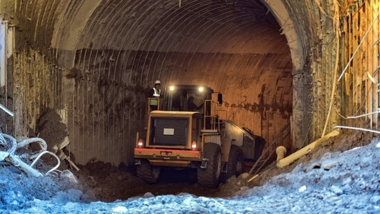 Rescue efforts continued in the Tapovan tunnel for the sixth consecutive day on Friday.(PTI)