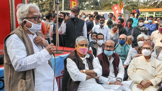 Left Front leaders said that the bandh was called after discussing with the Left Front constituents and the Congress party. (PTI PHOTO).