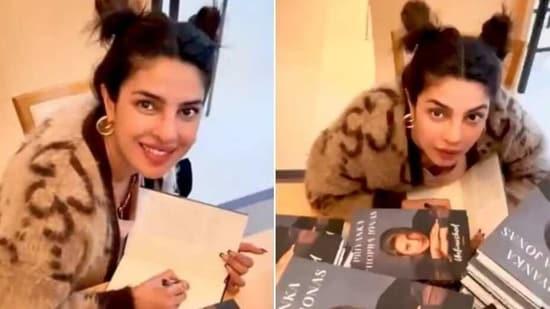 Priyanka Chopra in cardigan worth <span class='webrupee'>₹</span>1.9 lakh(Instagram/priyankachopra)