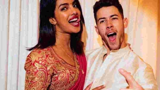 Priyanka Chopra with husband Nick Jonas.