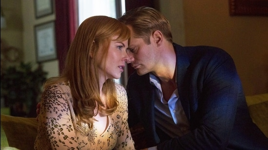 Nicole Kidman and Alexander Skarsgård as Celeste and Perry in Big Little Lies. No amount of menace is okay in a relationship. (Image courtesy HBO)