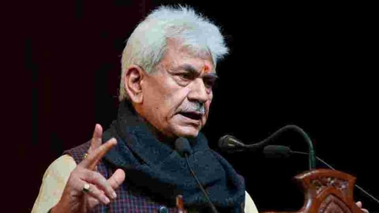 Jammu and Kashmir Lt Governor Manoj Sinha says the impact-based flood forecasting system is the next-level in flood forecasting.(PTI)