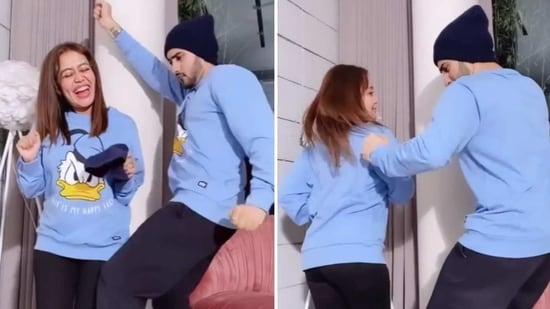 Neha Kakkar does the 'booty shake' with husband Rohanpreet Singh. Watch video - Hindustan Times