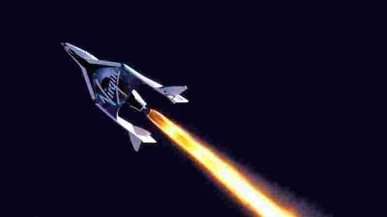 The Virgin Galactic's SpaceShipTwo was scheduled to take off for the first time from New Mexico's Spaceport America. (Reuters)