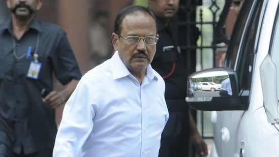 National Security Adviser Ajit Doval, one of the most protected individuals in India, has faced terror threats from Pakistan's Inter-Services Intelligence and its terrorist groups for more than three decades.(HT file photo)