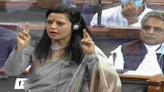 During her speech, Moitra without taking any name had made serious allegations while apparently referring to a former chief justice. (ANI Photo/ LSTV Grab)