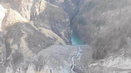 The lake formed in Rishi Ganga catchment area above Raini village.(SDRF)