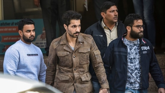 New Delhi: Actor Deep Sidhu, accused in the violence on Republic Day during a farmers' tractor rally, arrested by Delhi Police special cell in New Delhi, Tuesday, Feb. 9, 2021. (PTI Photo/Ravi Choudhary(PTI02_09_2021_000142A)(PTI)